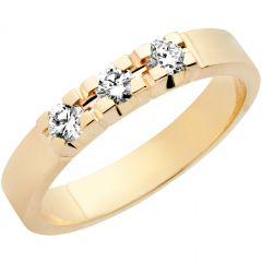 Aveny  Classic- Alliance Diamant Ring - 0,45ct - 14 Karat Guld
