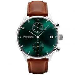 About Vintage - 1815 Chronograph Ur - Green Sunray/Steel - Ø41