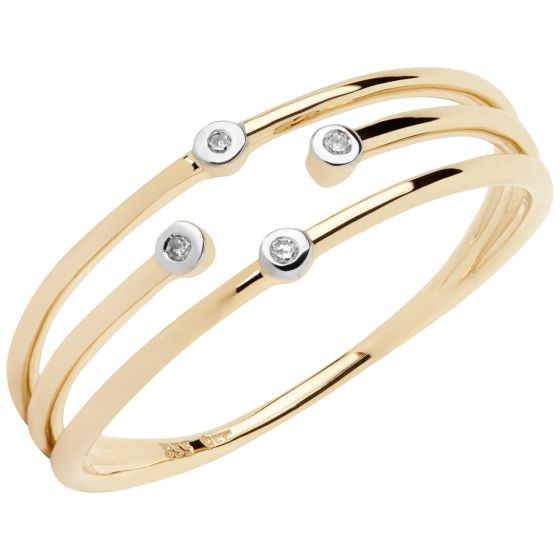 Aveny - Light Brown Diamant Ring - 8 Karat Guld