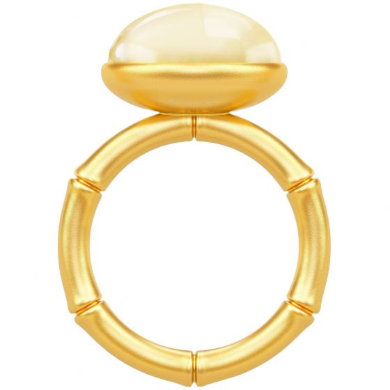 Julie Sandlau - Bamboo Wisdom Ring - Lemon/Forgyldt