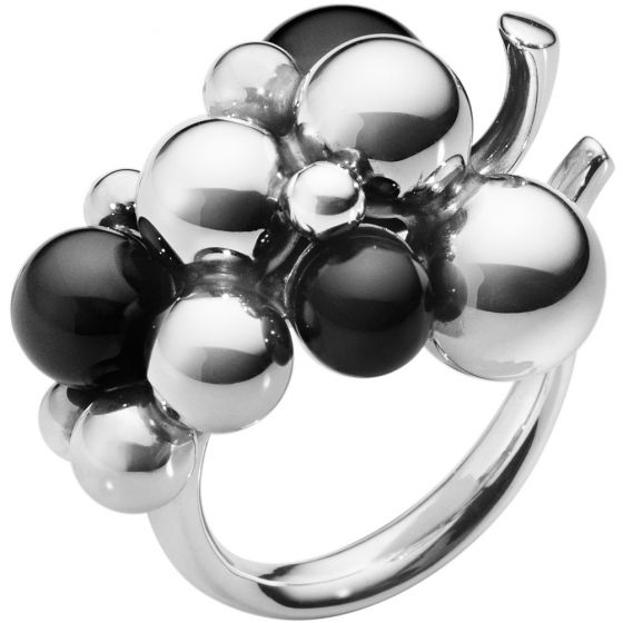 Georg Jensen - Moonlight Grapes Onxy Ring - Sølv