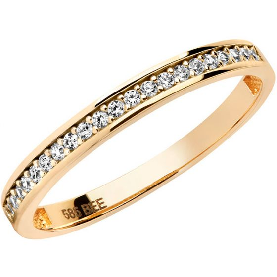 Aveny - Zirkonia Alliance Ring - 14 Karat Guld